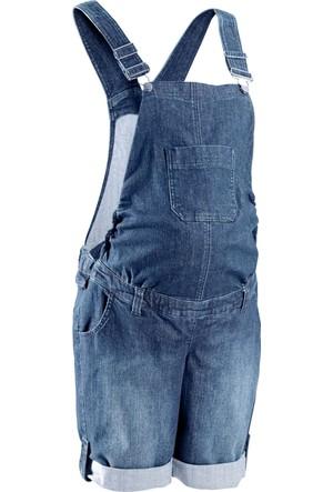 Bpc Bonprix Collection Mavi Hamile Giyim Şortlu Jean Tulum 34-54 Beden