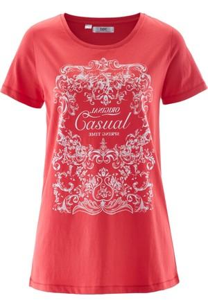 Bpc Bonprix Collection Kırmızı Yarım Kollu T-Shirt 34-54 Beden