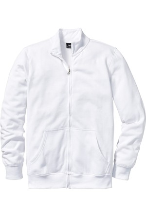 Bpc Bonprix Collection Erkek Beyaz Dik Yaka Sweatshirt