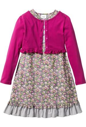 Bpc Bonprix Collection Gri Elbise + Ceket (2Li Takım)