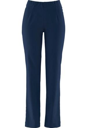 Bpc Bonprix Collection Kadın Mavi Düz Kesim Streç Pantolon
