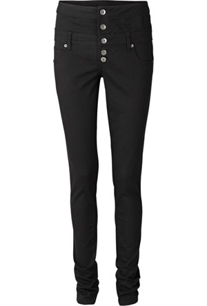 Rainbow Siyah Yüksek Belli Streç Pantolon Skinny