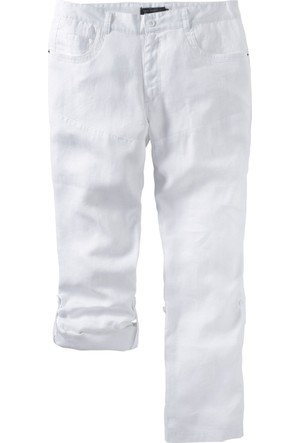 Bpc Selection Beyaz Keten Pantolon K+İ-Beden 34-54 Beden
