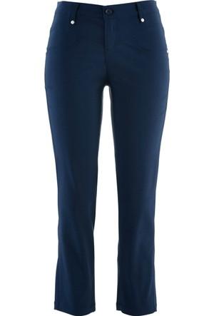 Bpc Bonprix Collection Mavi Bilek Boy İncelten Streç Pantolon