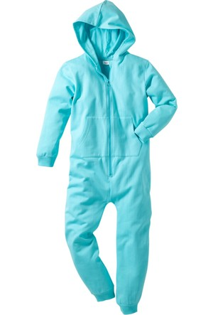 Bpc Bonprix Collection Mavi Kapüşonlu Sweat Tulum