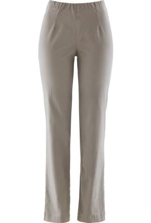 Bpc Bonprix Collection Kadın Kahverengi Düz Kesim Streç Pantolon