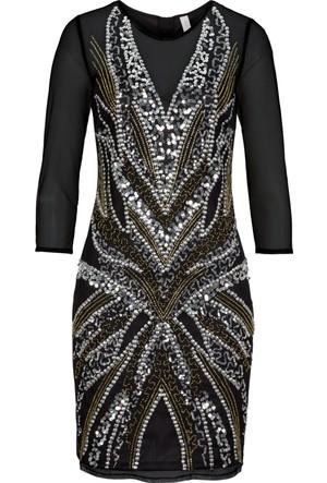 Bodyflirt Boutique Altın Rengi Gece Elbisesi