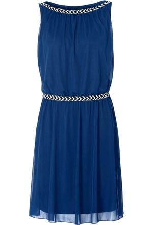 Bodyflirt Mavi Penye Elbise 34-54 Beden