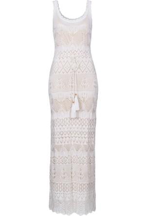 Bodyflirt Boutique Beyaz Örgü Elbise