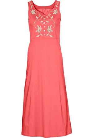Bpc Selection Kırmızı İşlemeli Elbise
