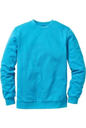 Bpc Bonprix Collection Erkek Mavi Sweatshirt