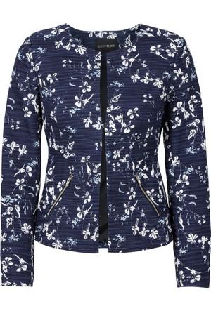 Bodyflirt Mavi Bukle Blazer Ceket