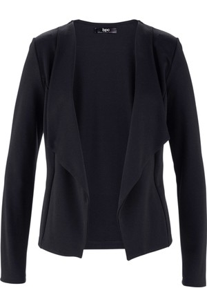 Bpc Bonprix Collection - Siyah Uzun Kollu Penye Blazer Ceket