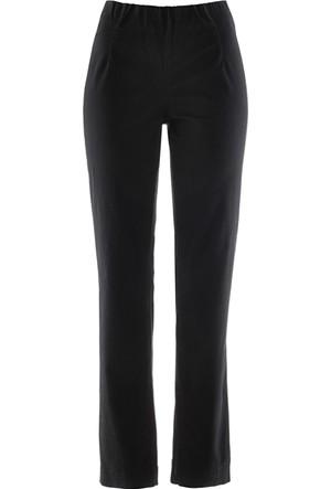 Bpc Bonprix Collection Kadın Siyah Düz Kesim Streç Pantolon