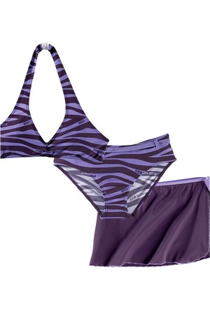 Bpc Bonprix Collection Bikini+Etek (3 Parçalı Set) Lila