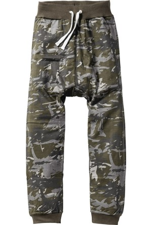 Bpc Bonprix Collection - Siyah Düşük Ağ Sweat Pantolon Loose Fit