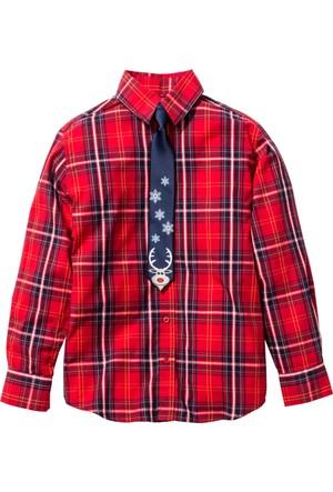 Bpc Bonprix Collection - Kırmızı Kravatlı Gömlek