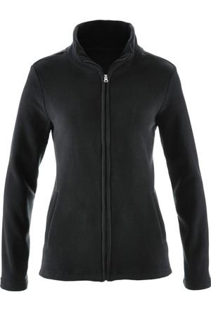 Bpc Bonprix Collection Kadın Siyah Dik Yakalı Polar Sweatshirt