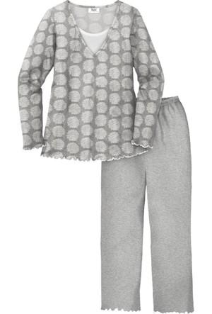 Bpc Bonprix Collection Gri Pijama 34-54 Beden