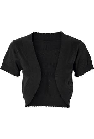 Bonprix Bodyflirt Siyah Örgü Bolero 34-54 Beden