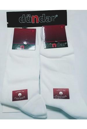 Dündar Erkek Beyaz Coton Klasik Çorap