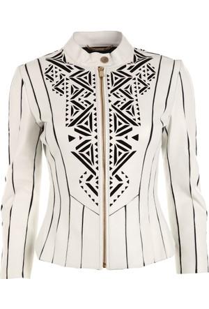Versace Jeans Kadın Deri Ceket G602096G33643