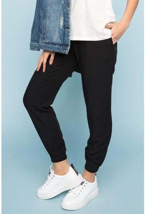 DeFacto Kadın Yüksek Bel Pantolon Siyah