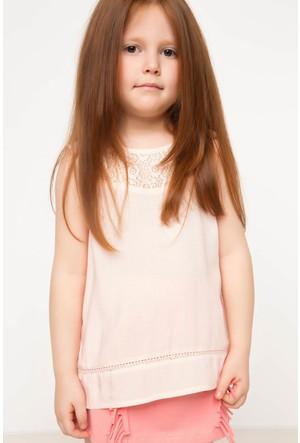DeFacto Kız Çocuk Sıfır Kol Bluz Pembe