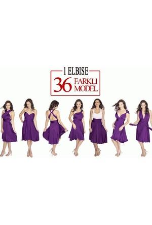 Wildlebend Sheland Tek Elbise 36 Farklı Model - Mor