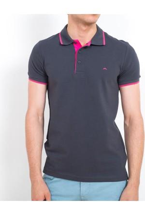 Cazador Polo Yaka Slim Fit T-Shirt Antrasit 4614