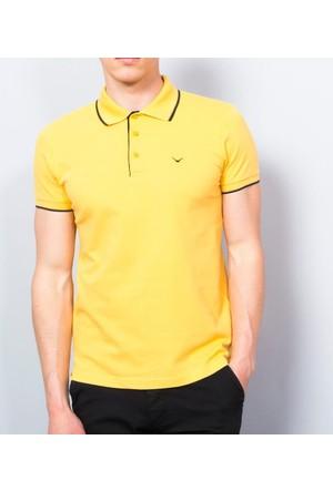 Cazador Polo Yaka Slim Fit T-Shirt Sarı 4614