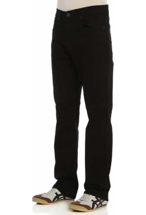 Baruğ Rahat Kesim Likralı Klasik Erkek Kot Pantolon - 042Worker-Siyah