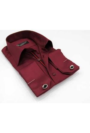 Dicotto Bordo Micro Kumaş Kol Düğmeli Slim Fit Düz Renk Gömlek - 201-13
