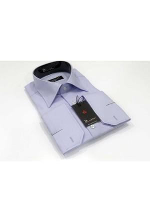 Dicotto Lila Slim Fit Düz Renk Uzun Kol Erkek Gömlek - 151-6