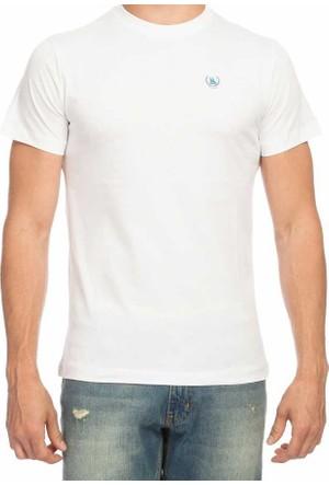 Dynamo Sıfır Yaka Düz Renk Basic Erkek Tshirt - T100-Beyaz