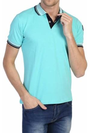 Kalender Su Yeşili Polo Yaka Düz Renk Erkek Lakos Tişört - 81138-301