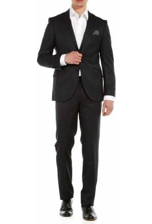 Lucas Kendinden Desenli 6 Drop Slim Fit Takim Elbise 312-Antra