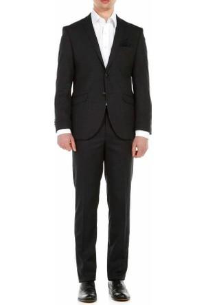 Lucas Piti Kare Desen 6 Drop Slim Fit Takim Elbise 317-Antra