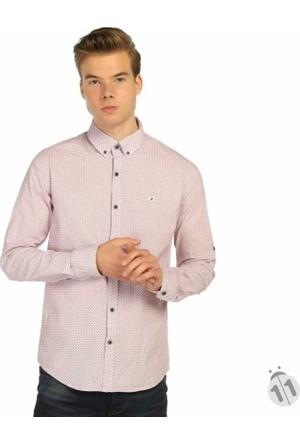 Mcl Japon Style Dar Kesim Likralı Erkek Spor Gömlek - 25508-Pembe