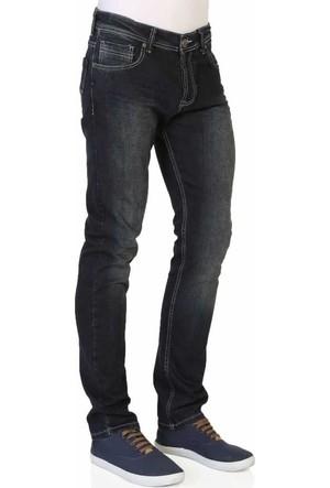 Mcl Likralı Slim Fit Normal Bel Taşlamalı Erkek Denim Kot Pantolon - 30023-Blue