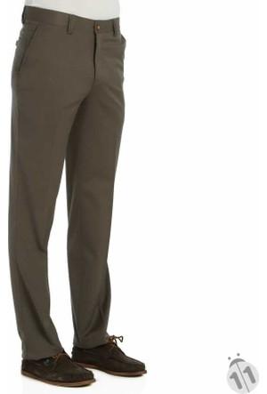 Runo Kahve Kumaş Kesim Likralı Slim Fit Erkek Keten Pantolon - 1907-Kahve