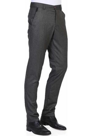 Runo Toprak Kendinden Desenli Slim Fit Erkek Spor Kumaş Pantolon -Bossa-1907-Toprak