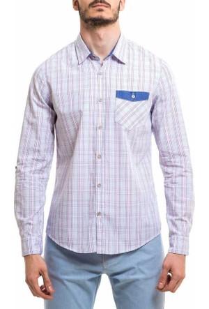 Xint Kareli Desen Uzun Kol Spor Erkek Gömlek 700391-Pembe
