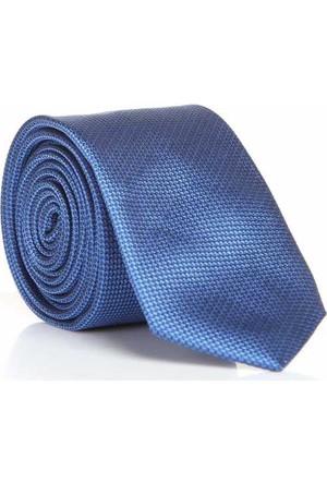 Gaffy İndigo Mavi Slim Fit Düz Renk Dokuma Kravat - Ddk-01