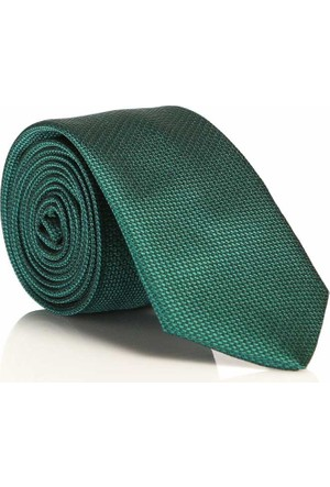 Gaffy Zümrüt Yeşil Slim Fit Düz Renk Dokuma Kravat - Ddk-28