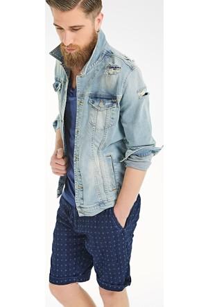 LTB Santino Y Damaged Blue Wash Ceket
