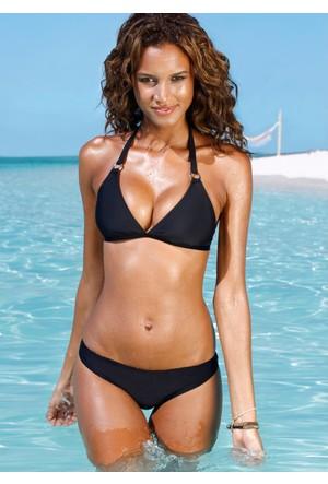 Bpc Bonprix Collection Siyah Boyundan Bağlanan Bikini 34-54 Beden