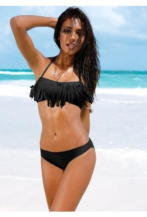 bonprix Siyah Straplez Bikini