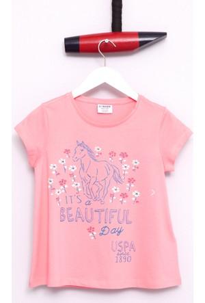 U.S. Polo Assn. Kız Çocuk Goyil T-Shirt Pembe