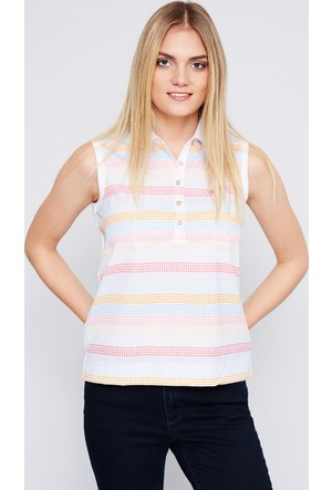 U.S. Polo Assn. Kadın Cino T-Shirt Beyaz